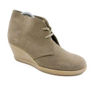 J. Crew MacAlister Suede Lace Up Ankle Wedge Boots